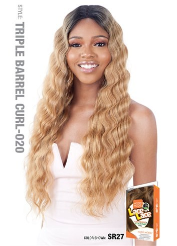 Model Model Lace To Lace Synthetic Hair Lace Front Wig Triple Barrel Curl 020 Mbeauty Store