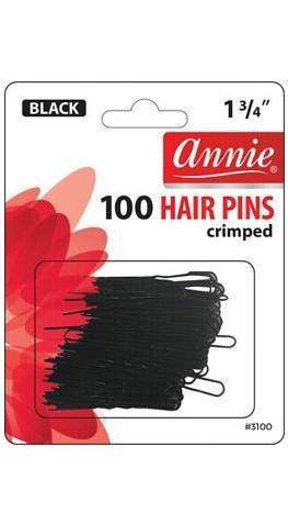 ANNIE 100 PCS HAIR PINS CRIPED 1 3/4