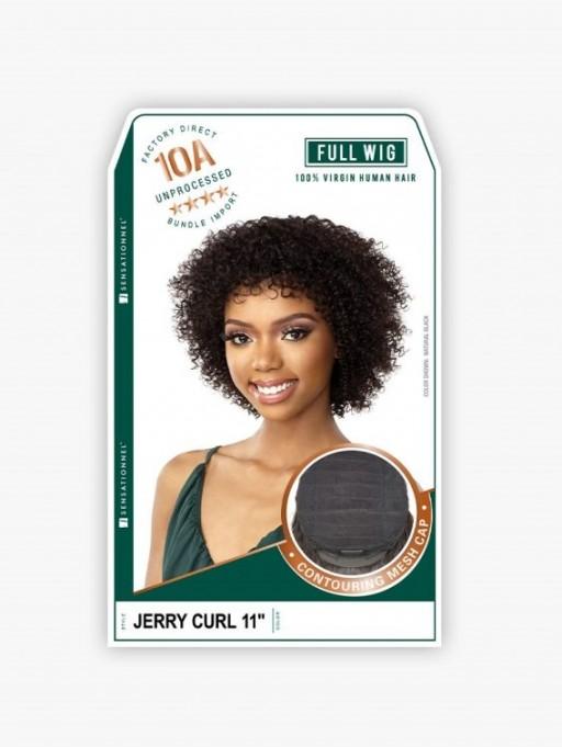 SENSATIONNEL UNPROCESSED VIRGIN HUMAN HAIR FULL WIG 10A JERRY CURL 11