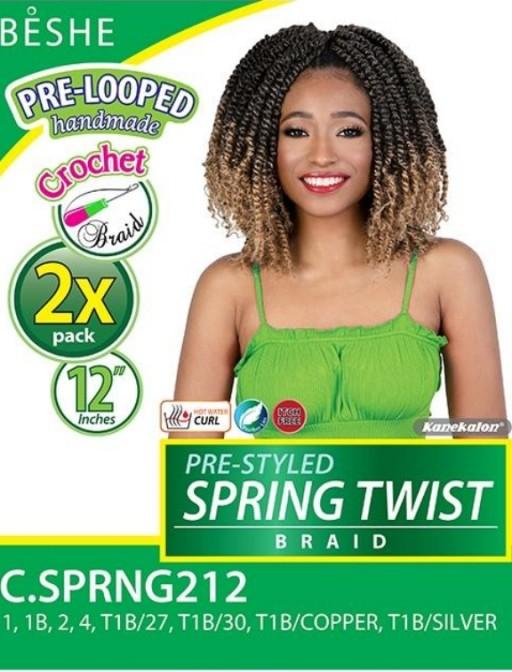 BESHE CROCHET BRAID PRE-LOOPED 2X SPRING TWIST 12 (C.SPRNG212)