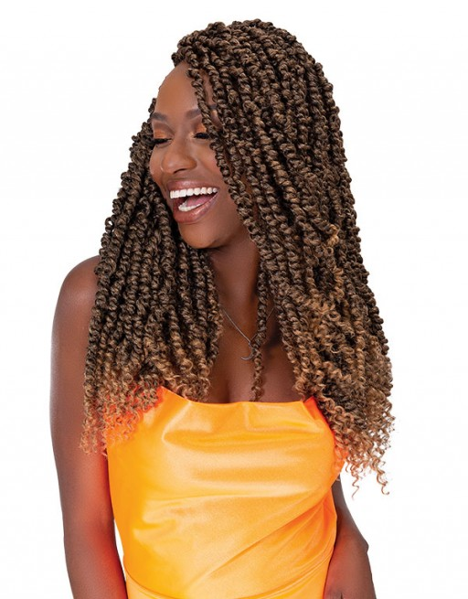 JANET COLLECTION NALATRESS SYNTHETIC HAIR CROCHET BRAID 3X PASSION TWIST 18