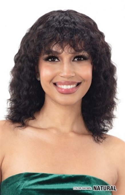 NAKED NATURE BRAZILIAN HUMAN HAIR WET & WAVY WIG BALTIC WAVE