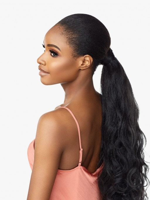 SENSATIONNEL SYNTHETIC PONYTAIL INSTANT PONY WRAP BLOW OUT 24