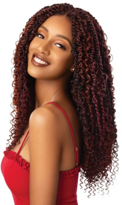 OUTRE X-PRESSION TWISTED UP LACE FRONT WIG BOHO PASSION WATERWAVE 22