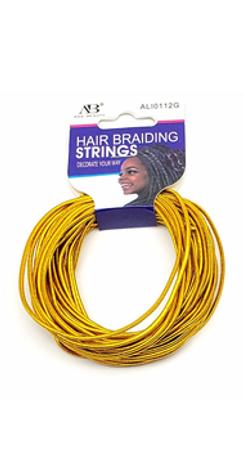 HAIR BRAIDING STRING GOLD