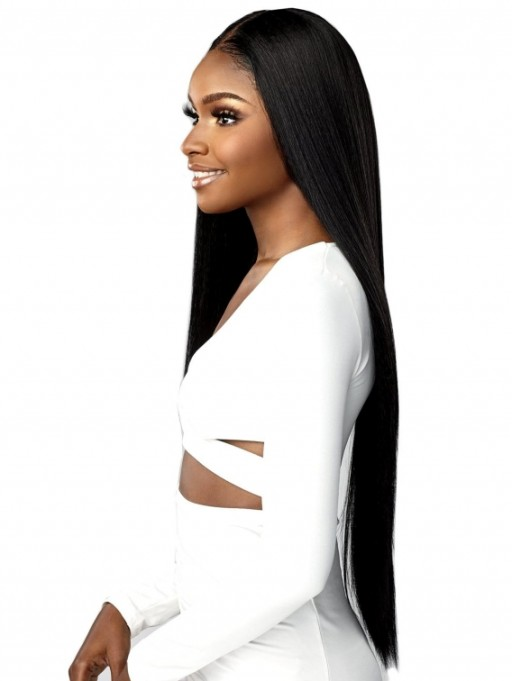 SENSATIONNEL BUTTA LACE HUMAN HAIR BLENDED HD LACE FRONT BUTTA STRAIGHT 32