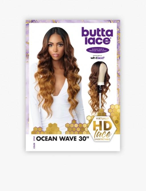 SENSATIONNEL HUMAN HAIR BLEND HD LACE FRONT BUTTA OCEAN WAVE 30