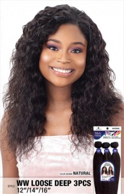 SHAKE N GO VIRGIN HUMAN HAIR WEAVE IBIZA WET & WAVY LOOSE DEEP 3PCS